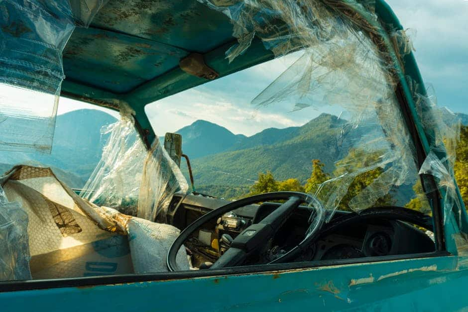 Auto Accident Memory Recovery - A car parked on the side of a mountain - Car