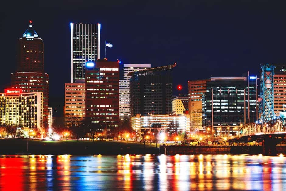 Hypnosis Conference; Portland, Oregon - A view of a city at night - Portland