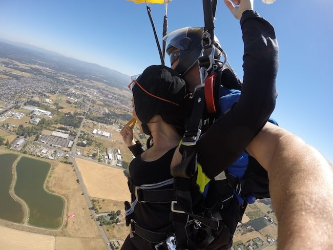 Fall Conference of the Oregon Hypnotherapy Association - A man standing on top of a mountain - Tandem skydiving