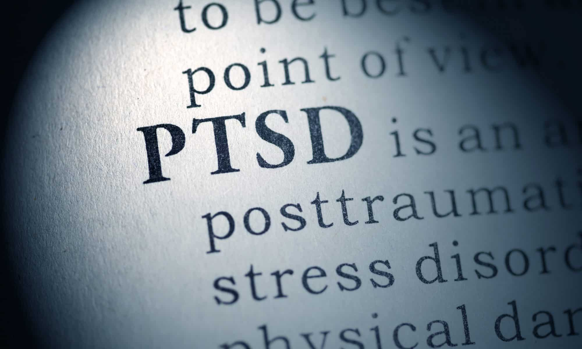 PTSD - A close up of a logo - Post-traumatic stress disorder (PTSD)